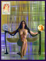 justice tarot card by joel-lawless-ormsby