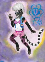 Punk Skunk With A Lemur Tail by EyonSplicer