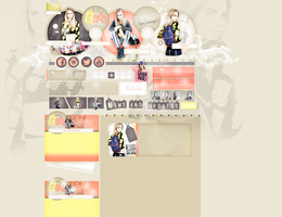 Layout ft. Cara Delevingne by PixxLussy