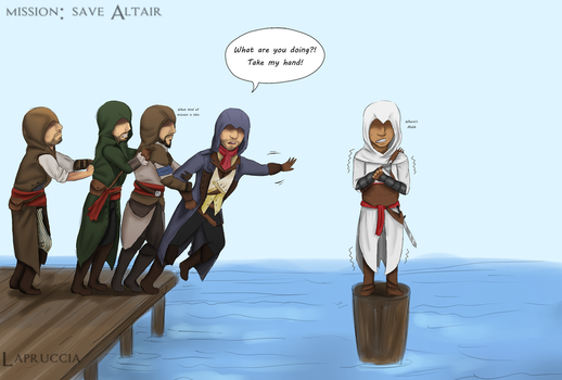AC Unity Co-op: save Altair by Lapruccia