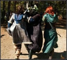 Kili, Thorin, and Tauriel by JeepersMeepers