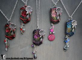 Rose Dogtags by LittleShopOfLostArts