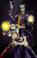 Joker and Harley Quinn by GudFit