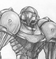 Pencilled Samus by shortissimus