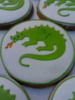 Dragon Cookies by eckabeck