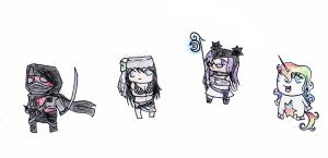 Chibis for Gaians by nikkirock211