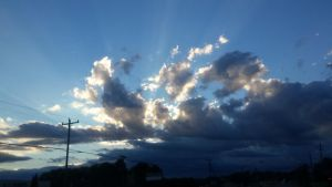 Exploding light in the clouds by Marksman104