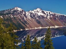 Crater Lake View #1 by Kristina-Henderson