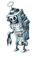 Inktober Robot by RobbVision
