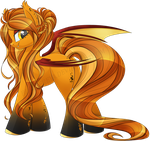 Touched by the sun bat pony adopt [CLOSED] by BlackFreya
