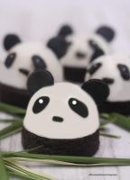 Panda Panna Cotta w/ Brownie by theresahelmer