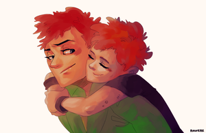 The Young Ones: Drop Dead Fred and Baby Vyv by student-yuuto