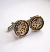 Clockwork Cufflinks Model Thirty Three by AMechanicalMind