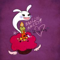 birthday bunneh by polkadotbeetle