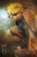 Uzumaki Naruto Fan Art by christianamiel21