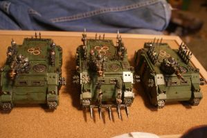 Nurgle Chaos Rhinos Pic 1 by TheAceintOne