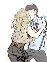 Doctor x River Song, Happy New Years, Sweetie by fluffpuffgerbil