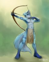 The blue archer by Little-shewolf9