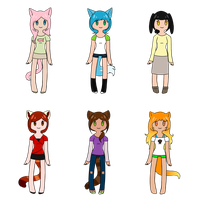 :Adoptables: Kemonomimi Girls -OPEN- by AugustFox