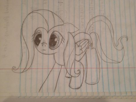 Fluttershy Sketch - 'I'm sorry...' by benzensulfonic