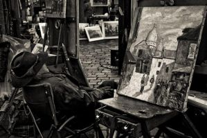 painter, montmartre by somebody3121