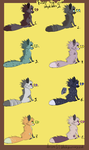 Fuzzy foxes point adoptables 2 -open- by pampd