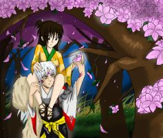 AT: Sesshomaru and Rin by Noopy10