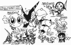 [Penny & CJ] doodles & sketches02 by Kainsword-Kaijin