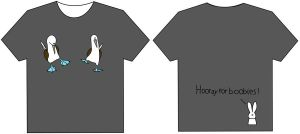 Hooray for boobies T-shirt by ysyra