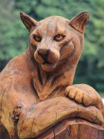 Cougar carving by finhead4ever