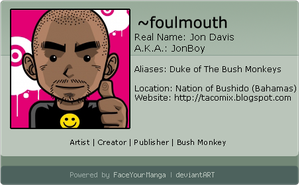 My Faceyourmanga ID by foulmouth