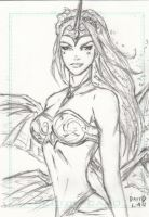 Soulfire Sketch Card by DavidLau82