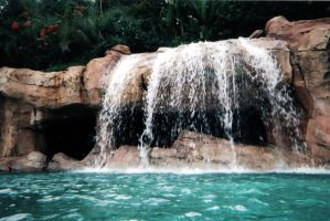 Discovery Cove Waterfall by Della-Stock