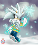 Silver the hedgehog SNOWFUN by shadowhatesomochao