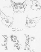 Ratchet in pencil by Aluinashryu