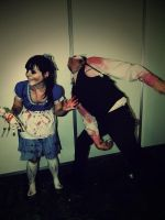 Little sister and Splicer Cosplay ~ Bioshock by Jurdii