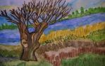 willow in landscape by ingeline-art