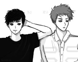 Sexy Tao and Kris by moujunki