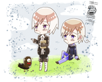 + APH: Chibi Norway and Iceland + by SerketStalker