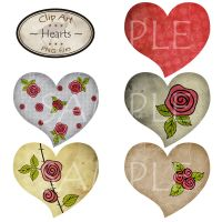 Clipart Hearts - part 2 by karavajka
