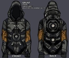 grunt hoodie - give me your input! by lupodirosso