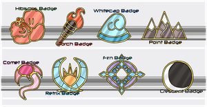 Dephlos Badges by The-Godlings-Rapture