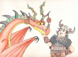 HTTYD Snotlout and Hook final by earthstar