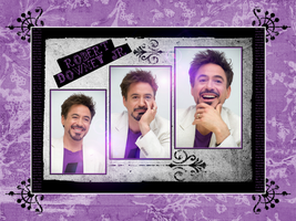 Purple RDJ wall by Tiate