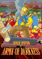 Homer Simpsons vs Army of Darkness by paulwilliamsart