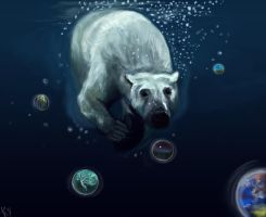 White bear by Purple-Ephemerality