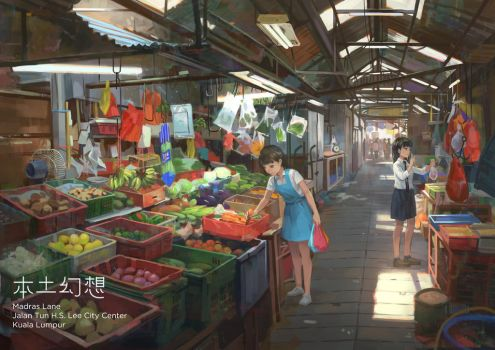 Traditional market by FeiGiap