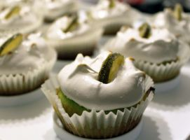 Key Lime Cupcakes by dashedandshattered