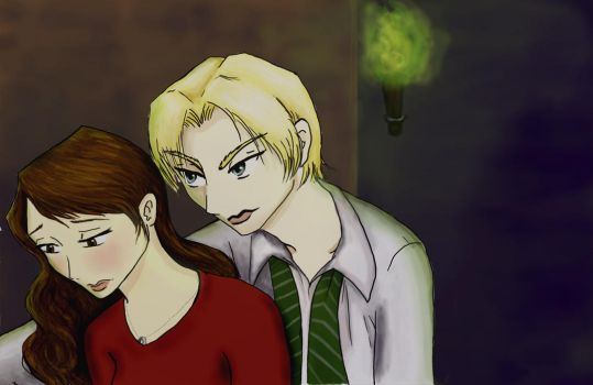 Draco and Hermione by Rain7777