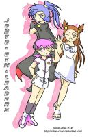 Johto Gym Leaders by Mikan-chan
